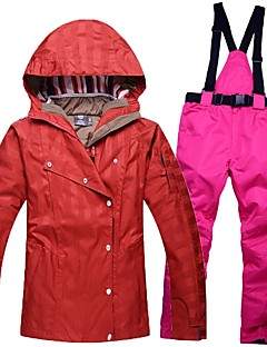 Calças & Jaquetas de Esqui Mulheres Esqui Quente Prova-de-Água A Prova de Vento Vestível Respirabilidade Algodão Ecológico Poliéster