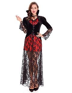 Trollmann/heks Vampyrer Cosplay Kostumer Kvinnelig Halloween Karneval Oktoberfest Festival / høytid Halloween-kostymer Rød Trær / Blader