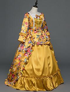 תחפושת למסיבה נשף מסכות Steampunk® בהשפעת וינטאג' ויקטוריאני רוקוקו נסיכות סגנון של מפורסמים ימי הביניים רנסנס Cosplay שמלות לוליטה כתום