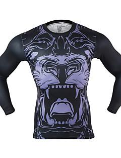 billige Løbetøj-Arsuxeo Herre Løbe-T-shirt Hurtigtørrende, Reducerer gnavesår, Letvægt for Yoga / Boksning / Træning & Fitness Polyester, Spandex L / XL