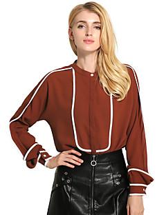 Feminino Camisa Social Feriado Casual Vintage Moda de Rua Primavera/Outono Primavera/Outono/Inverno/Verão,Estampa Colorida Vintage