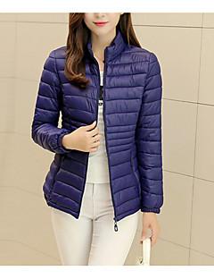 billige Overtøj til damer-Dame I-byen-tøj Dynejakke - Ensfarvet
