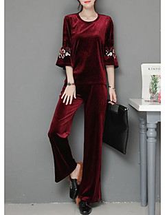Women's Daily Simple Winter Set Pant Suits