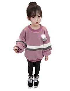 billige Jenteklær-Jente Bluse Stripet Fargeblokk Kashmir Polyester Vinter Høst Langt Erme Normal