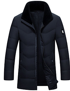 Men's Padded Coat,Casual Daily Solid-Others Long Sleeves
