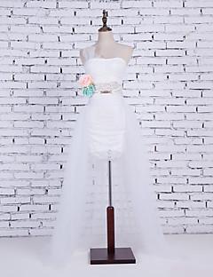 cheap Wedding Slips-Wedding Party / Evening Slips Cotton Nylon Chinlon Cathedral-Length Glossy Skirt Fashion Wedding with White Bow