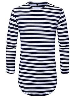 voordelige Insider Keus-Heren Street chic T-shirt Katoen Gestreept Ronde hals