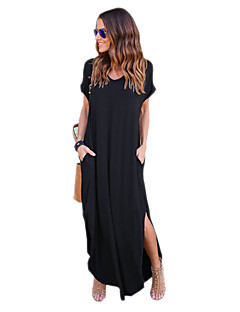 cheap Maxi Dresses-Women's Work Loose Dress - Solid Maxi