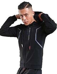 abordables -Homme Veste de Course Manches Longues Garder au chaud Respirable Sweat à capuche pour Course Fitness Blanc Noir Gris Bleu royal S M L XL