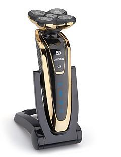 billige Barbermaskiner & Barberhøvler-jinding rq-5580 barberhøvel vanntett fem blader elektrisk barbermaskin for menn med brett ladestasjon oppladbar
