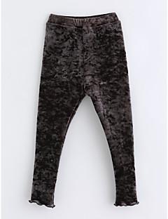 hesapli İndirimli Satışlar-Genç Kız Pamuklu Solid Kış Pantolon Koyu Gri