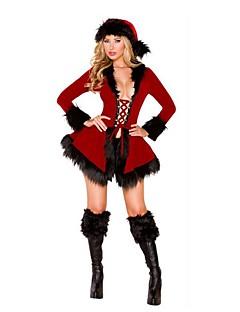 Mos Craciun Mrs.Claus Ținute Feminin Crăciun Festival / Sărbătoare Costume de Halloween Negru Alb Mată Vacanță Crăciun
