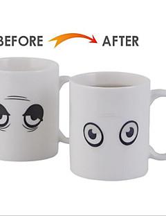 tanie Termosy i termosy-Naczynia do picia Porcelana przyssawkę Ciepło Wrażliwy zmieniający kolor 1 pcs / Kawowo / Herbata