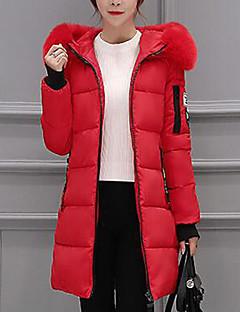 Damen Gefüttert Mantel Einfach Ausgehen Druck-Andere Baumwolle Polypropylen Langarm