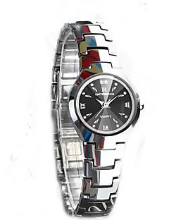 女性用 腕時計用ギフトボックス カジュアルウォッチ ファッションウォッチ ドレスウォッチ ブレスレットウォッチ リストウォッチ ユニークなクリエイティブウォッチ ダミー ダイアモンド 腕時計 中国 クォーツ クリスタル クロノグラフ付き 耐水 模造ダイヤモンド ステンレス