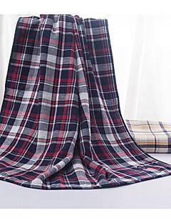 Frischer Stil Badehandtuch,Karomuster Gehobene Qualität Polyester / Baumwolle Handtuch