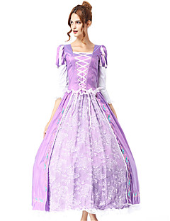 billige Halloweenkostymer-Prinsesse Sofia Gudinne Kjoler Cosplay Kostumer Dame Jul Halloween Karneval Oktoberfest Festival / høytid Halloween-kostymer Lys Lilla