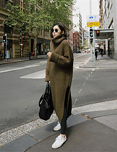 Women's Daily Work Vintage Street chic Long Pullover