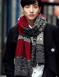 Men's Knitwear Rectangle Lattice Fall Winter