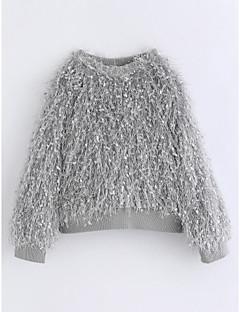 Mädchen Bluse Solide Baumwolle Winter Langarm