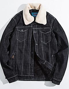 コート レギュラー パーカー メンズ,お出かけ カジュアル/普段着 カラーブロック ウール コットン シンプル セクシー アジアン・エスニック 長袖