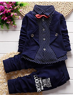 Boys' Polka Dots Clothing Set,Cotton Spring Long Sleeve Blue Green Red Gray