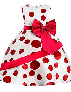 Χαμηλού Κόστους Girls' Party Wear-Κορίτσια Φόρεμα Βαμβάκι Πολυεστέρας Μονόχρωμο Πουά Καθημερινά Εξόδου Άνοιξη, Φθινόπωρο, Χειμώνας, Καλοκαίρι Όλες οι εποχές Αμάνικο