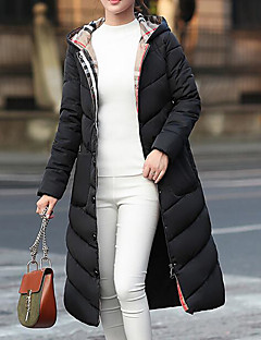 Women's Padded Coat,Casual Sexy Daily Going out Solid-Polyester Long Sleeves
