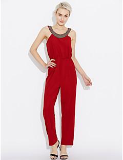 billige Jumpsuits og sparkebukser til damer-Dame Bomull Kjeledresser - Ensfarget, Perler Harem
