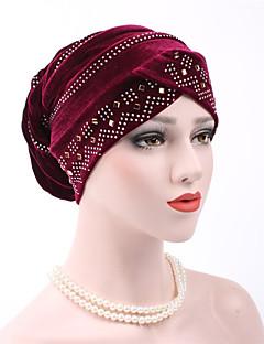 זול כובעים אופנתיים-כובע עם שוליים רחבים - אחיד כותנה פאייטים בגדי ריקוד נשים
