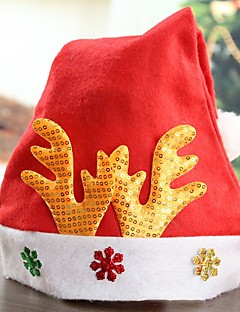 billige julen Kostymer-Ferie Nisse drakter Julehue Rød Klede Cosplay-tilbehør Jul