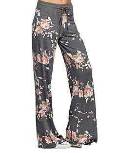 cheap Women's Pants-Women's Print Legging - Print, Floral Low Waist
