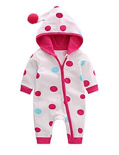 billige Babytøj-Baby Pige Simple Afslappet / Hverdag Ensfarvet Prikker Kortærmet Uld Bomuld Overall og jumpsuit