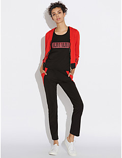 Women's Daily Simple Spring Fall Hoodie Pant Suits