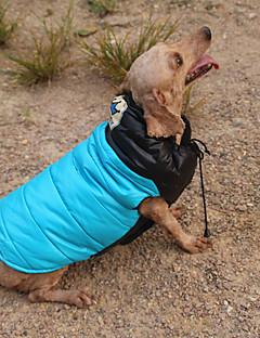 billiga Hundkläder-Katt Hund Kappor Huvtröjor Jumpsuits Regnjacka Hundkläder Tryck Tiaror och kronor Blå Polyster Vattentätt Material Kostym För husdjur