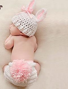 billige Sett med babyklær-Baby Pige Simple Ensfarvet Uden ærmer Bambus Fiber Tøjsæt