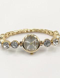 Kadın's Moda Saat Bilezik Saat Quartz Taşlı imitasyon Pırlanta Alaşım Bant İhtişam Günlük Zarif Altın Rengi
