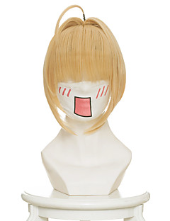 billige Anime cosplay-Cosplay Parykker Fate/zero Nero Claudius Anime Cosplay-parykker 45 CM Varmeresistent Fiber Dame