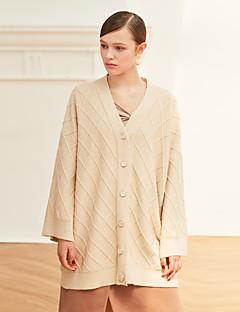 tanie Swetry damskie-Damskie Vintage W serek Flare rękawem Rozpinany Jendolity kolor
