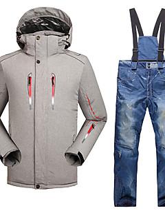 Heren Ski-jack & broek Warm waterdicht Winddicht Draagbaar Ademend Lichtgewicht Skiën Ski