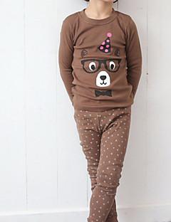 Jungen Schlafanzüge Muster Baumwolle Langärmelige Einfach