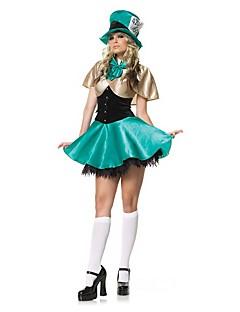 Schattig Princes Vrouwelijk Outfits Cosplay blauw Kap Korte mouw Kort / Mini