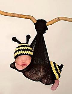 billige Tilbehør-Nyfødt Unisex Bomuld Tørklæde, Hat & Handske Sæt