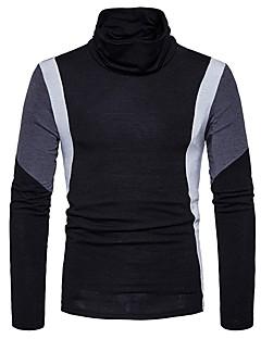 tanie Męskie swetry i swetry rozpinane-Męskie Na co dzień Golf Pulower Wielokolorowa Pled Długi rękaw
