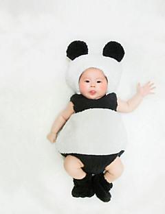 billige Sett med babyklær-Baby Unisex Tøjsæt Fødselsdag I-byen-tøj Farveblok, Bomuld Alle årstider Uden ærmer Simple Sødt Hvid