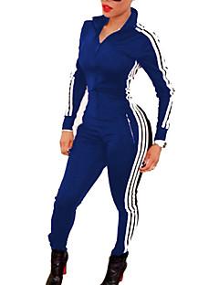 お買い得  レディースジャンプスーツ&ロンパース-女性用 ヴィンテージ ジャンプスーツ ストライプ カラーブロック