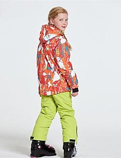 billiga Skid- och snowboardkläder-Wild Snow Pojkar / Flickor Skidjacka och -byxor Vindtät, Varm, Ventilerande Skidåkning / Multisport / Vintersport Polyester, Mesh Klädesset Skidkläder