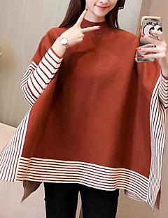 Ženske Jednostavan Ležerno/za svaki dan Regularna Pullover,Jednobojni Okrugli izrez Dugih rukava Poliester Zima strenchy Neprozirno