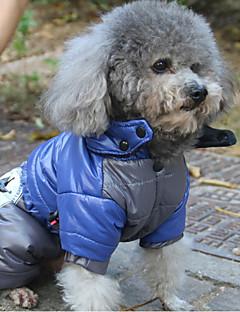 povoljno -Mačka Pas Kaputi Hoodies Kabanica Jumpsuits Odjeća za psa Ležerno/za svaki dan Vodootporno Ugrijati Sportske Print Pismo i broj Plava Pink