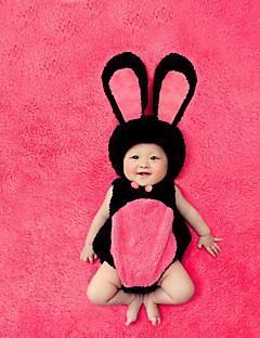 billige Sett med babyklær-Baby Unisex Tøjsæt Jul Daglig Farveblok, Bomuld Alle årstider Uden ærmer Sødt Rød